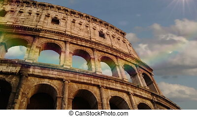 Colosseum in Rome, Italy. Time Laps