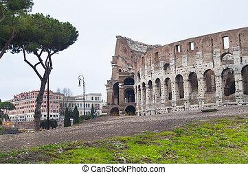 colosseum, italy., ローマ, 外の光景