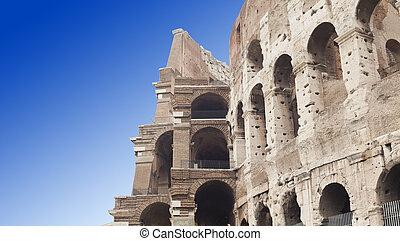 colosseum, italy., rom, außen ansicht