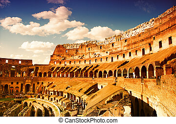colosseum, italy), (rome
