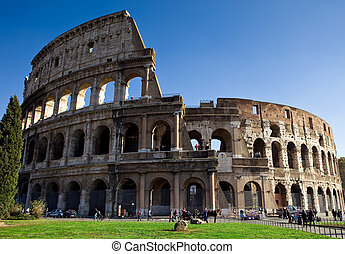 Colosseum - photo of the roman colosseum taken by day light