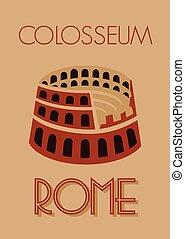 colosseum, rom, affisch