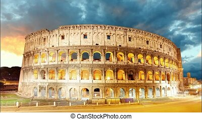 Colosseum, Rome, Italy - Time lapse