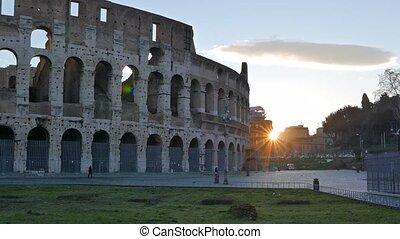 Colosseum, Sunrise. Rome, Italy