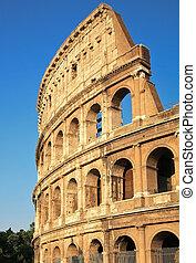 Colosseum - the world famous landmark in Rome Italy