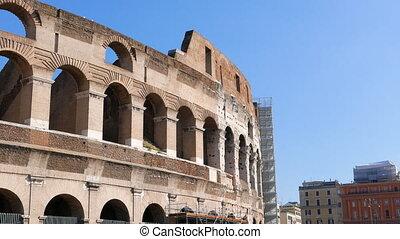 Colosseum, Top. Rome, Italy. UltraHD (4K)