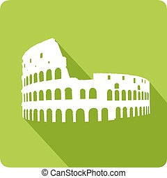 colosseum, vektor, illustration
