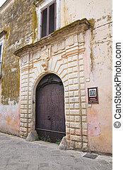 Colosso palace. Ugento. Puglia. Italy.
