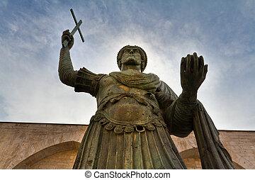 Colossus - The Colossus of Barletta, a large bronze statue...