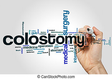Colostomy word cloud