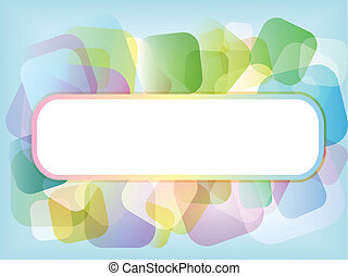 Colour background - Colourful background of shapes with room...