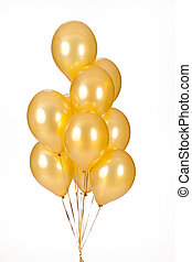 Colour Balloons - Multicoloured air balloons on isolated ...
