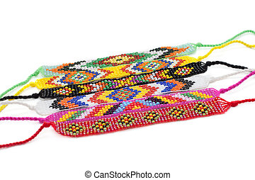 Colour bracelets from beads