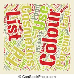 Colour Cosmetics text background word cloud concept