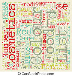 Colour Cosmetics text background wordcloud concept