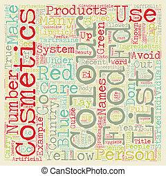 Colour Cosmetics text background wordcloud concept