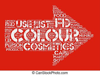 Colour Cosmetics Word Cloud Concept Text Background