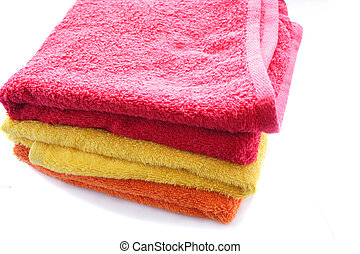 Colour fluffy towels