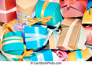 Colour gift boxes