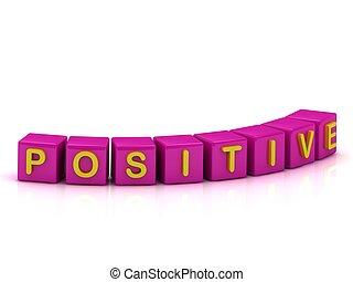 colour:, inscripción, cubos, positivo, rosa