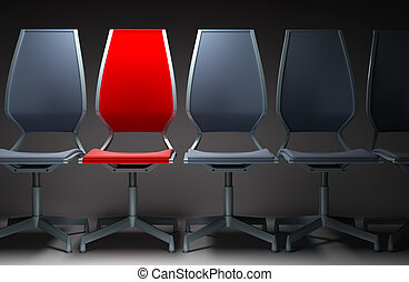colour office chairs 3d - colour group office chairs 3D ...
