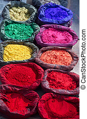 Paint pigment in the sun in Kathmandu, Nepal.