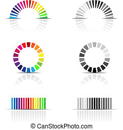colour profiles - vector illustration of colour profile...