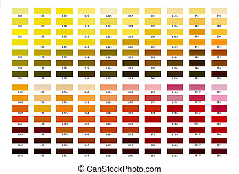 Colour reference illustration. Shade from 100 to 188, Way of...