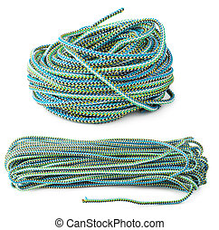 Colour thick rope isolated on white background