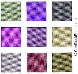 Colour sampler with violet hues