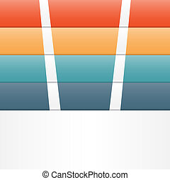 Colour strips template infographic four position
