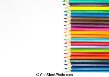 Colour wooden pencils