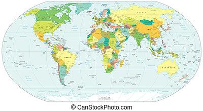 colour World globe Map America Europe Africa