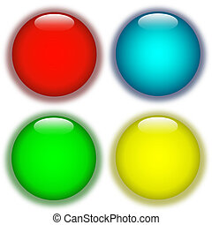 Coloured aqua buttons - Coloured aqua web buttons and...