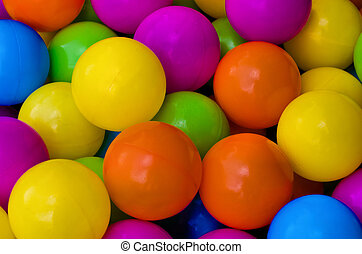 Coloured Balls - Brightly coloured play balls