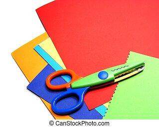 Coloured card & scissors