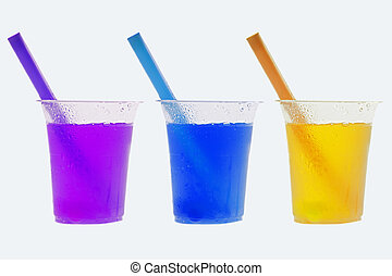 Coloured cold drinks - Coloured refreshing cold drinks