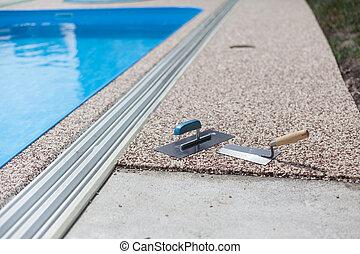 Coloured Concrete Around Pool