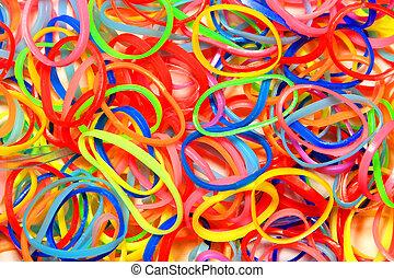 Coloured Elastic Bands - A lot of coloured elastic bands