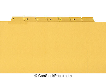 Coloured file folder with