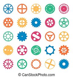 Coloured Gear Wheels