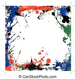 grunge art frame