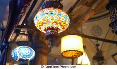 Coloured lamps interior - Coloured pendent lamps latern...