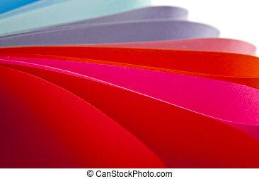 coloured paper
