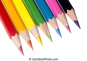 coloured pencil image - Coloured pencil in a vertical image