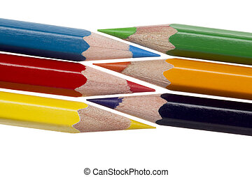 coloured pencil image - Illustration of Coloured pencil in a...
