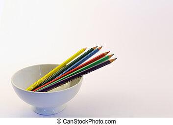 coloured pencil in still life