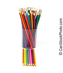 coloured pencil isolated on a white background
