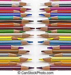 coloured pencil - pencils in several colours