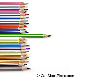 coloured pencil - pencils in several colours